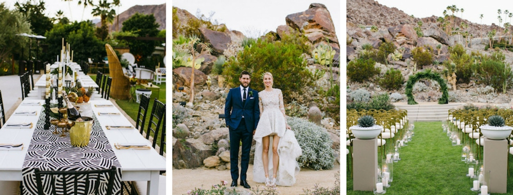Whitney Port outdoor white and green wedding
