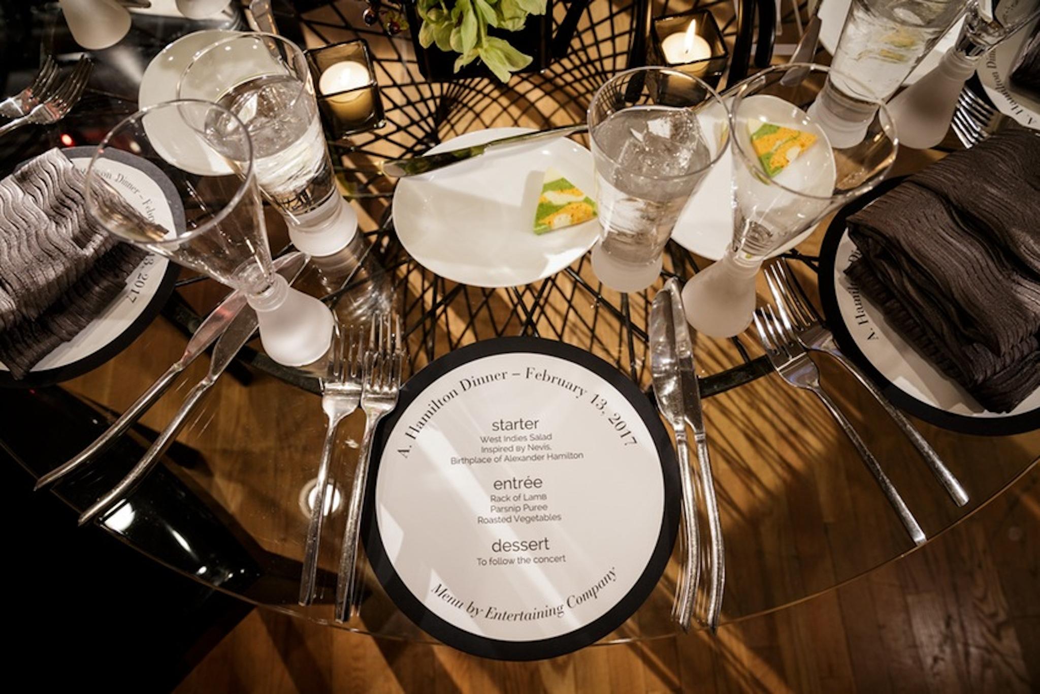 Dinner party menu ideas - Broadway's Hamilton Chicago