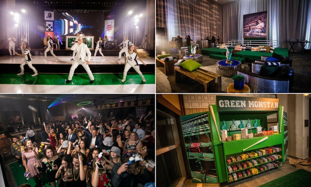 green and white baseball party