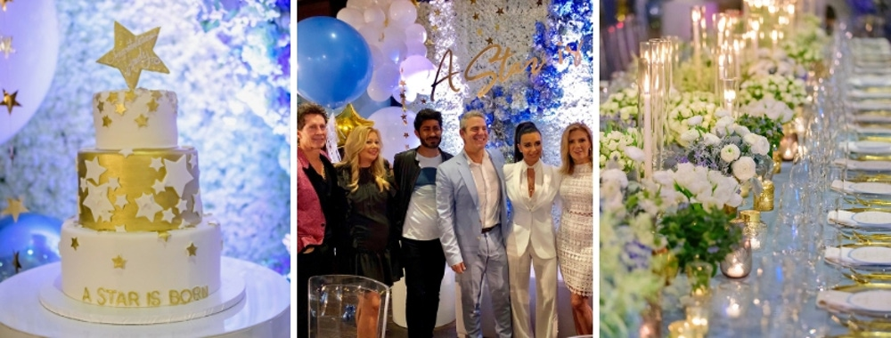 Cake and Guests at Andy Cohen's Baby Shower