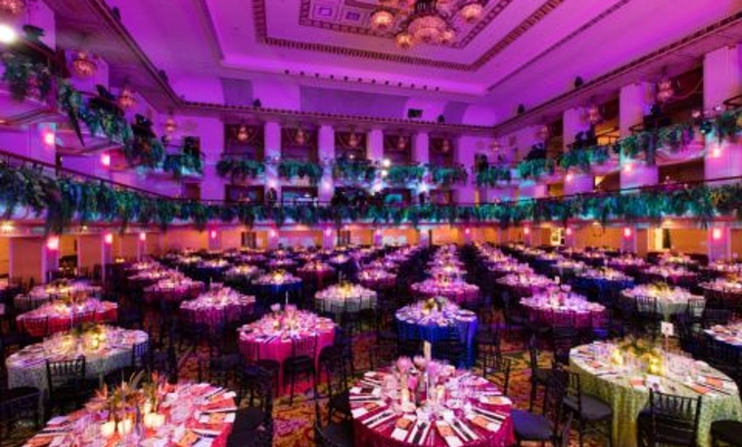 Colorful party ballroom