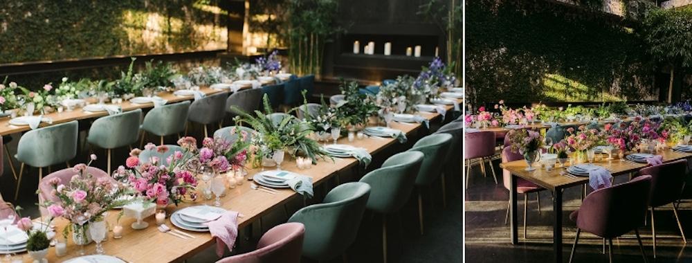 Ombre floral arrangements
