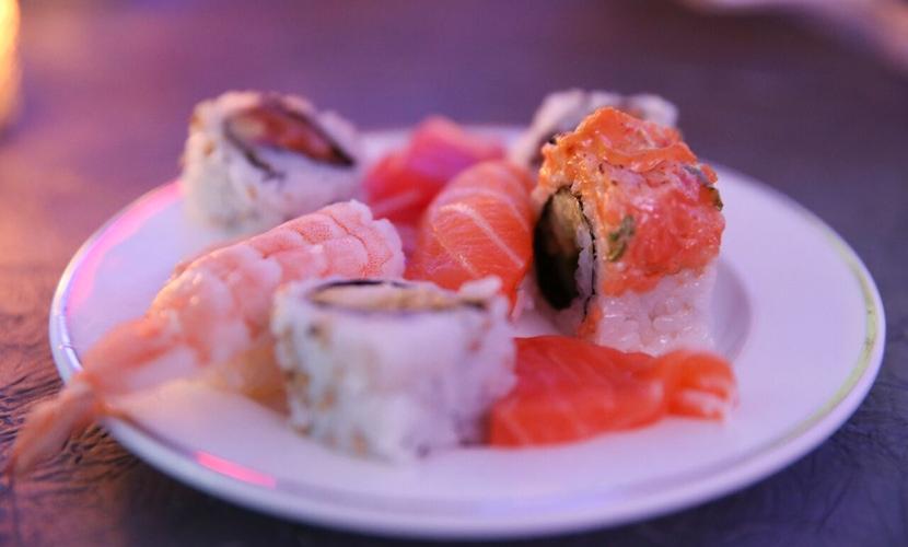 Sushi at party