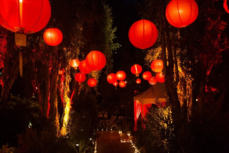China red decor New Year party