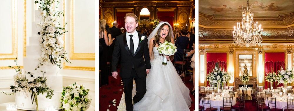 Alexa Mehraban white and green wedding