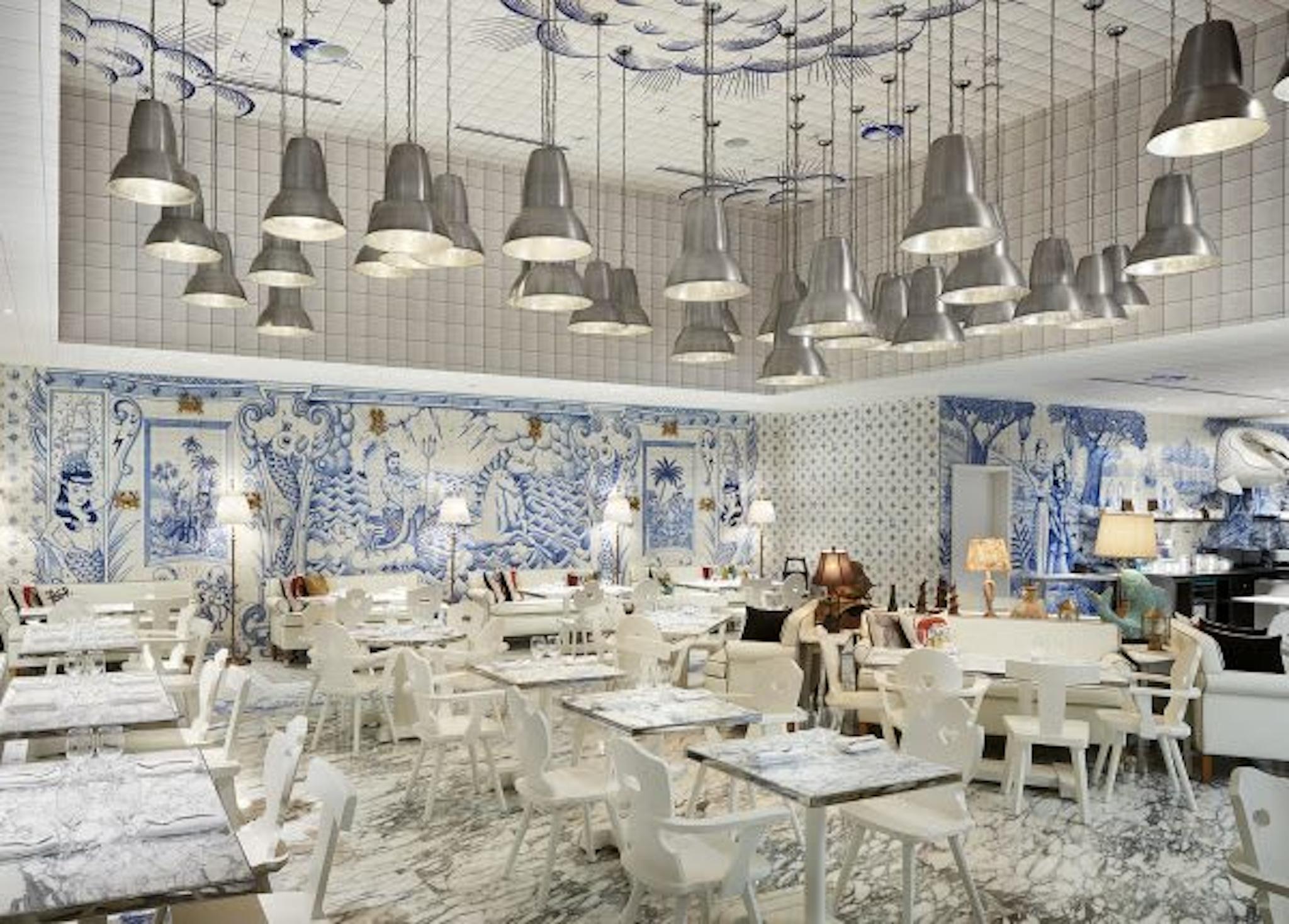 Sea themed room at Bazaar Mar by Jose Andres at SLS Brickell