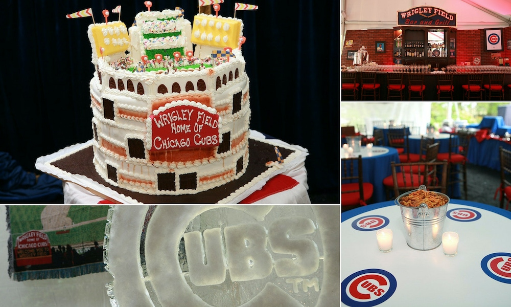 red, white and blue Cubs baseball party
