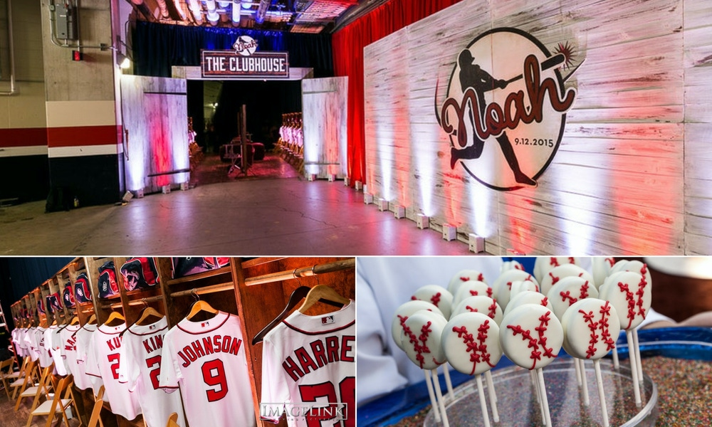red and white baseball party
