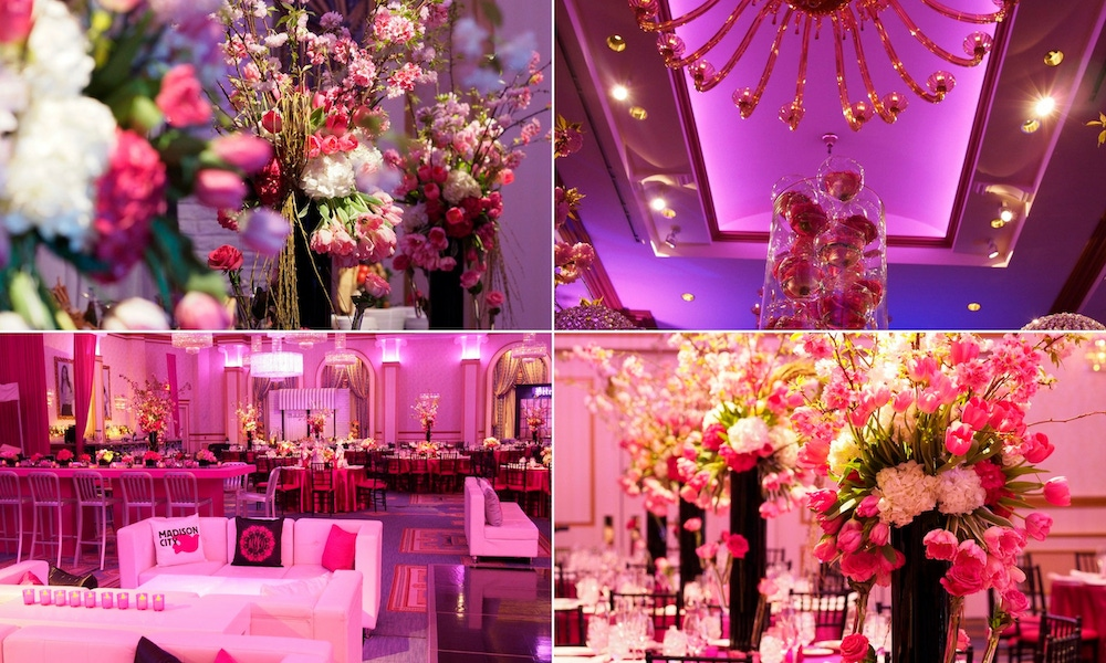 pink party decor