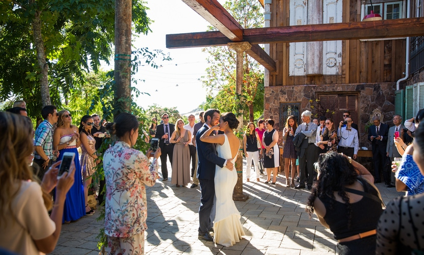 bride groom dancing on triple s ranch porch napa
