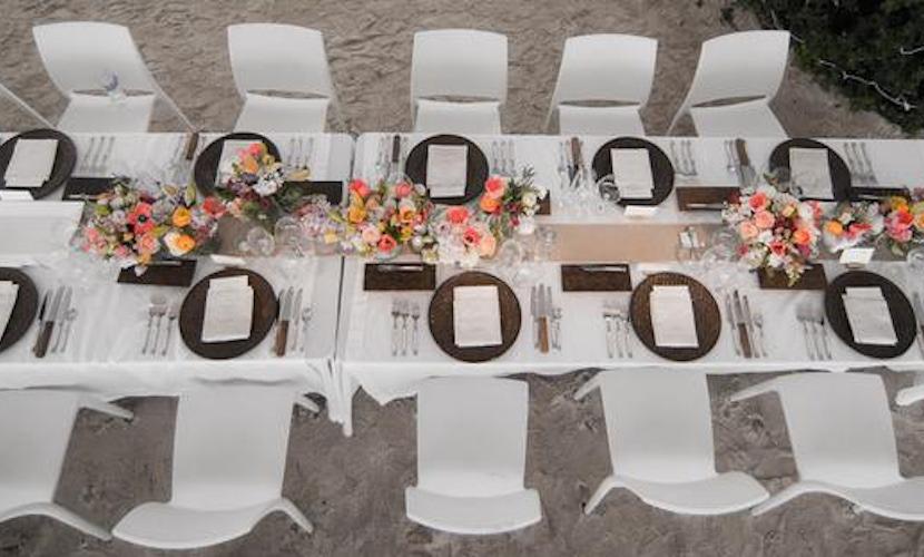 Cabo Beach Wedding idea - table setting