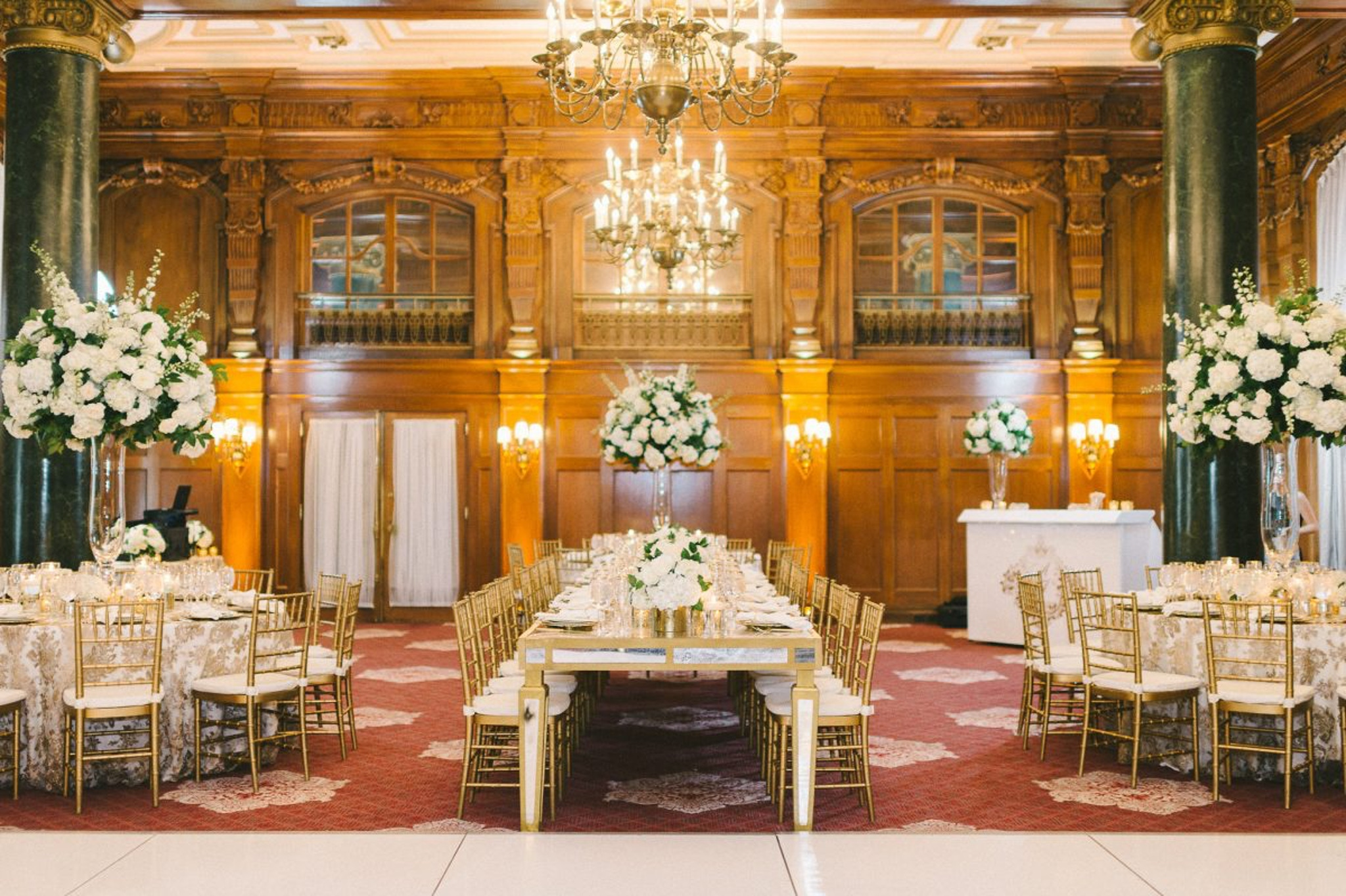 towering ceilings and gilded walls at the willard intercontinental ballroom