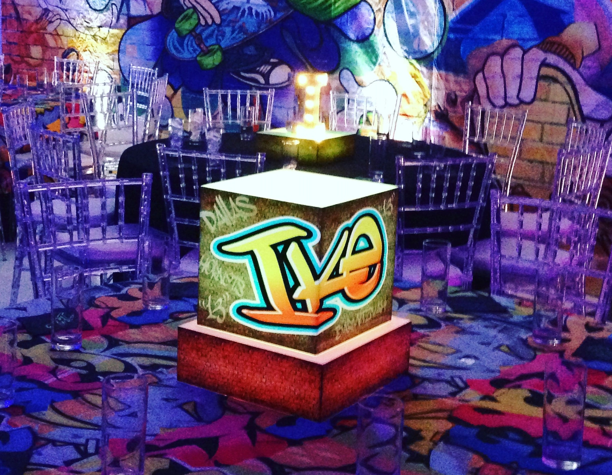 Graffiti themed mitzvah