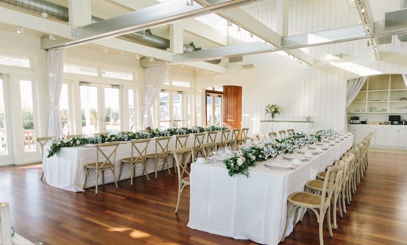 napa ballroom all white wedding reception in napa valley carneros