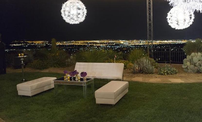 Las Vegas backyard wedding idea - view