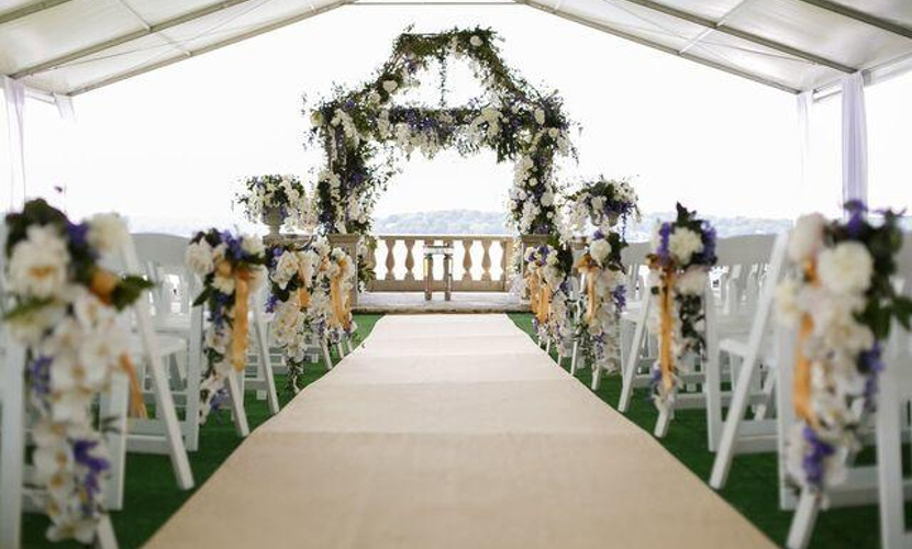 Elegant Lake Geneva Wedding - Wedding Aisle