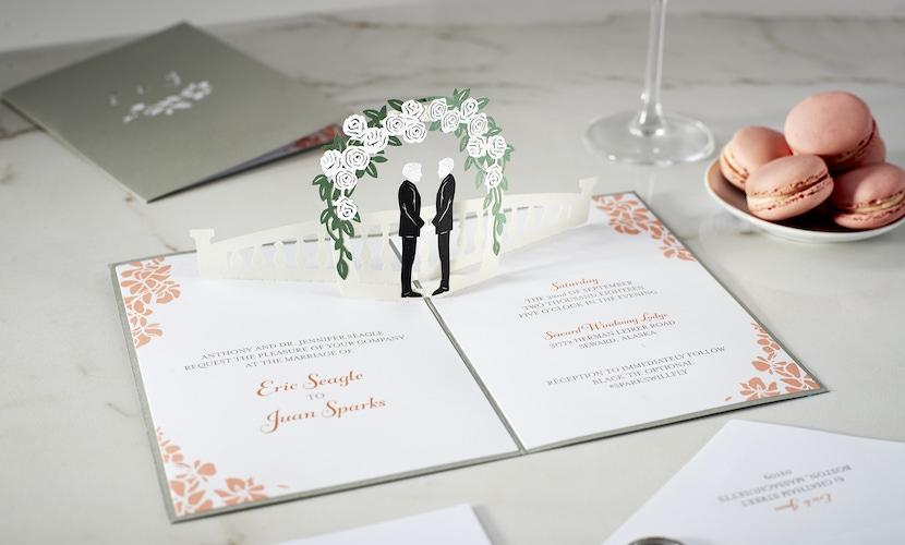 Unique wedding invitation by LovePop