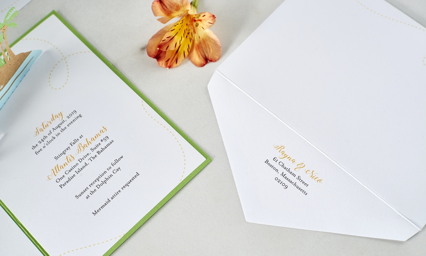 Destination Wedding Invitations by LovePop