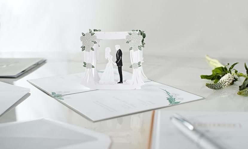 White Wedding Invitations by Lovepop