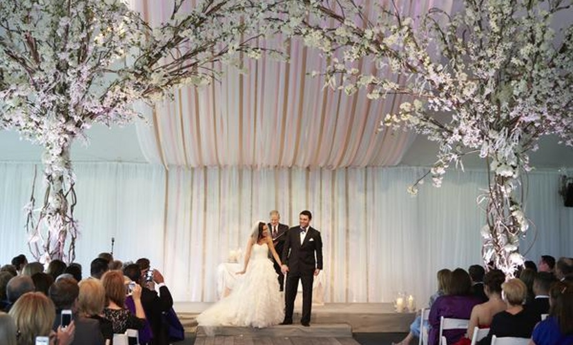 Northerly Island Tented Wedding - Wedding Aisle