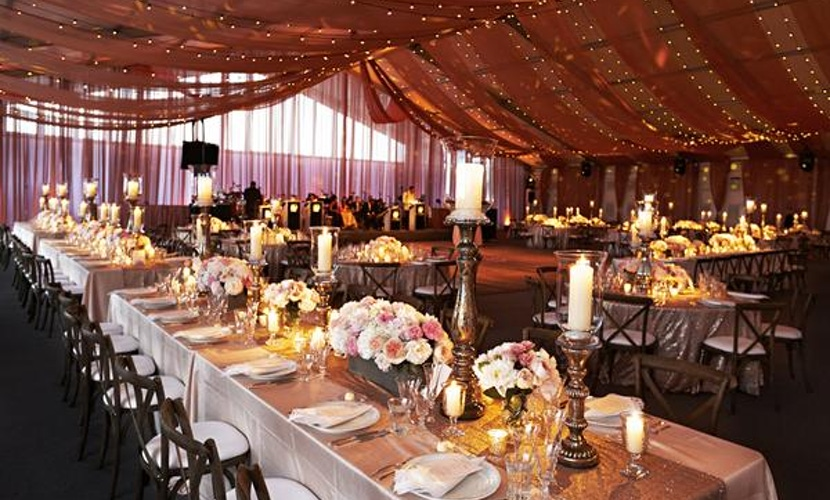Northerly Island Tented Wedding - Wedding decor and floral