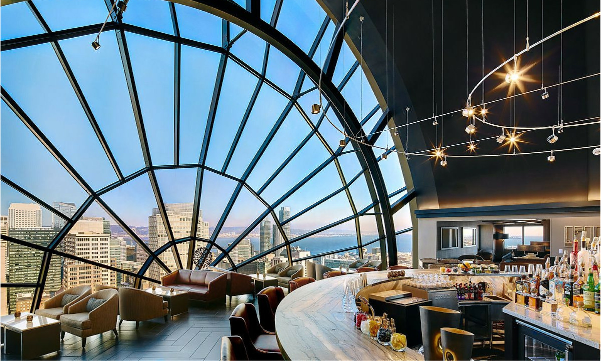 The View Lounge San Francisco domed windows