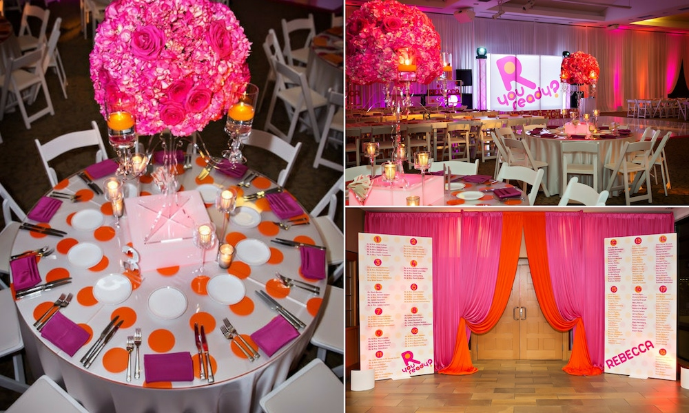 Pink and orange carnival party