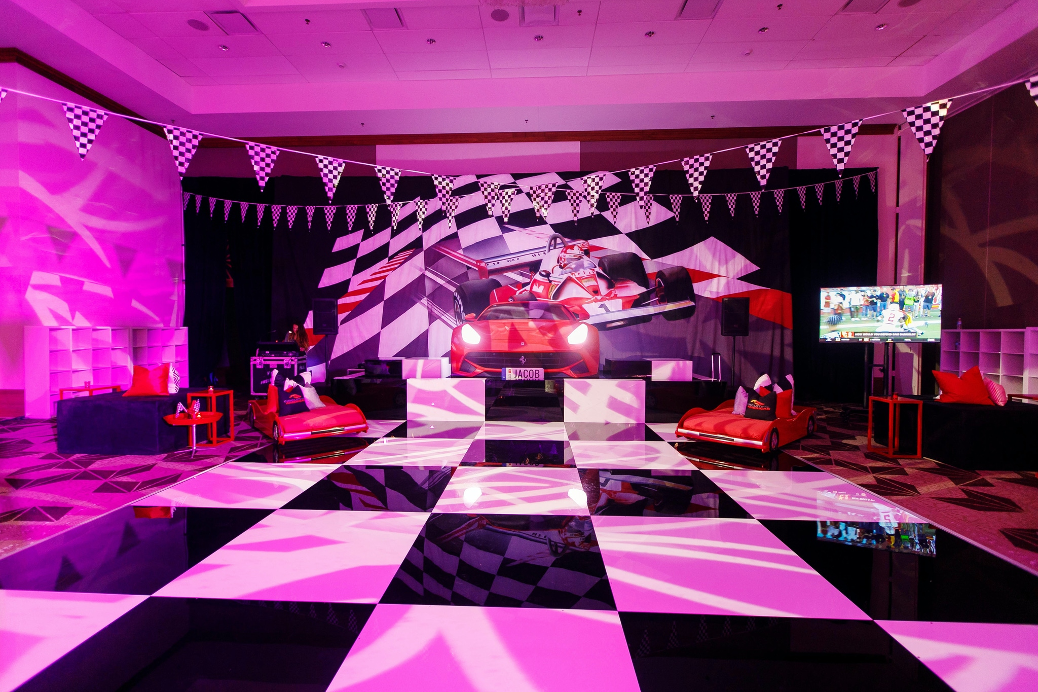 Racing themed bar mitzvah