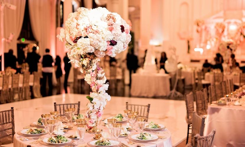 floral decor at ray j and princess love wedding
