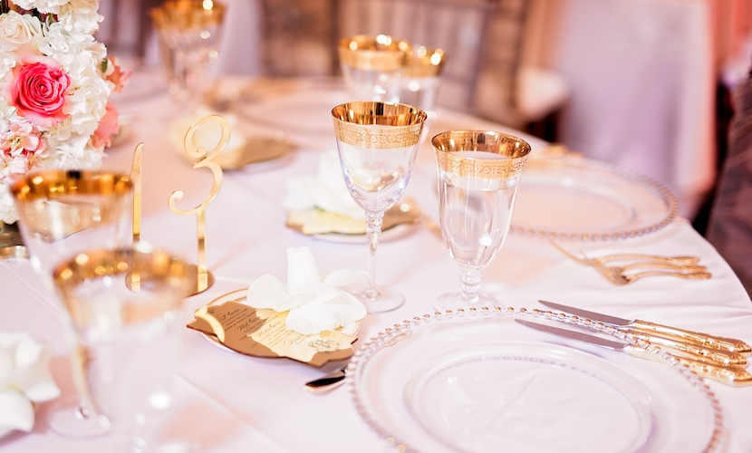 Table photo from Ray J and Princess love wedding