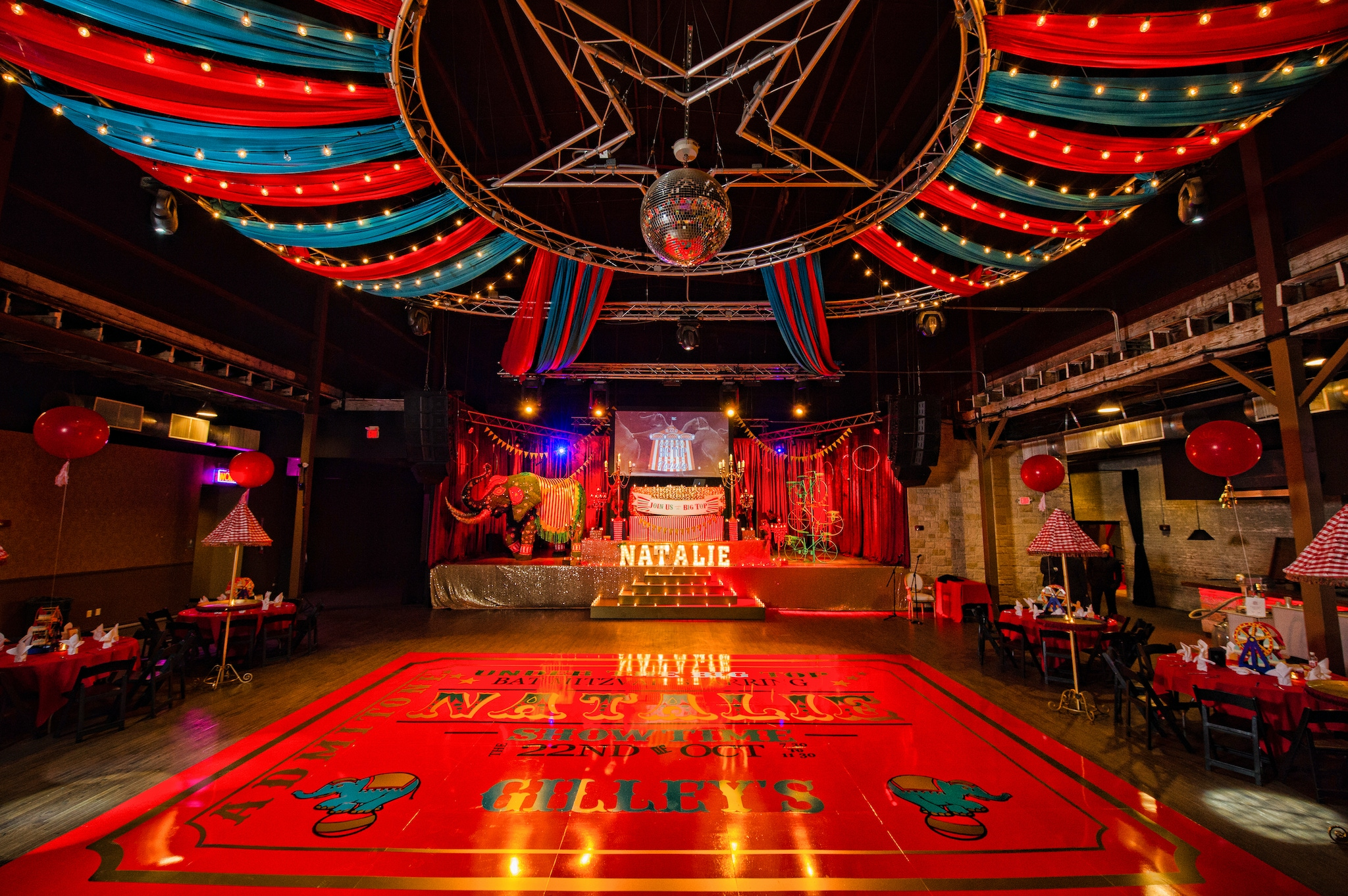 Circus themed bat mitzvah