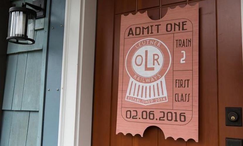 train-themed kid's birthday party idea - decor