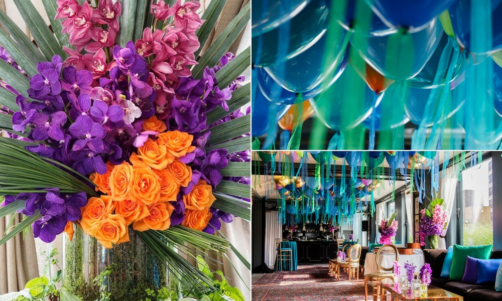 party florals and colors