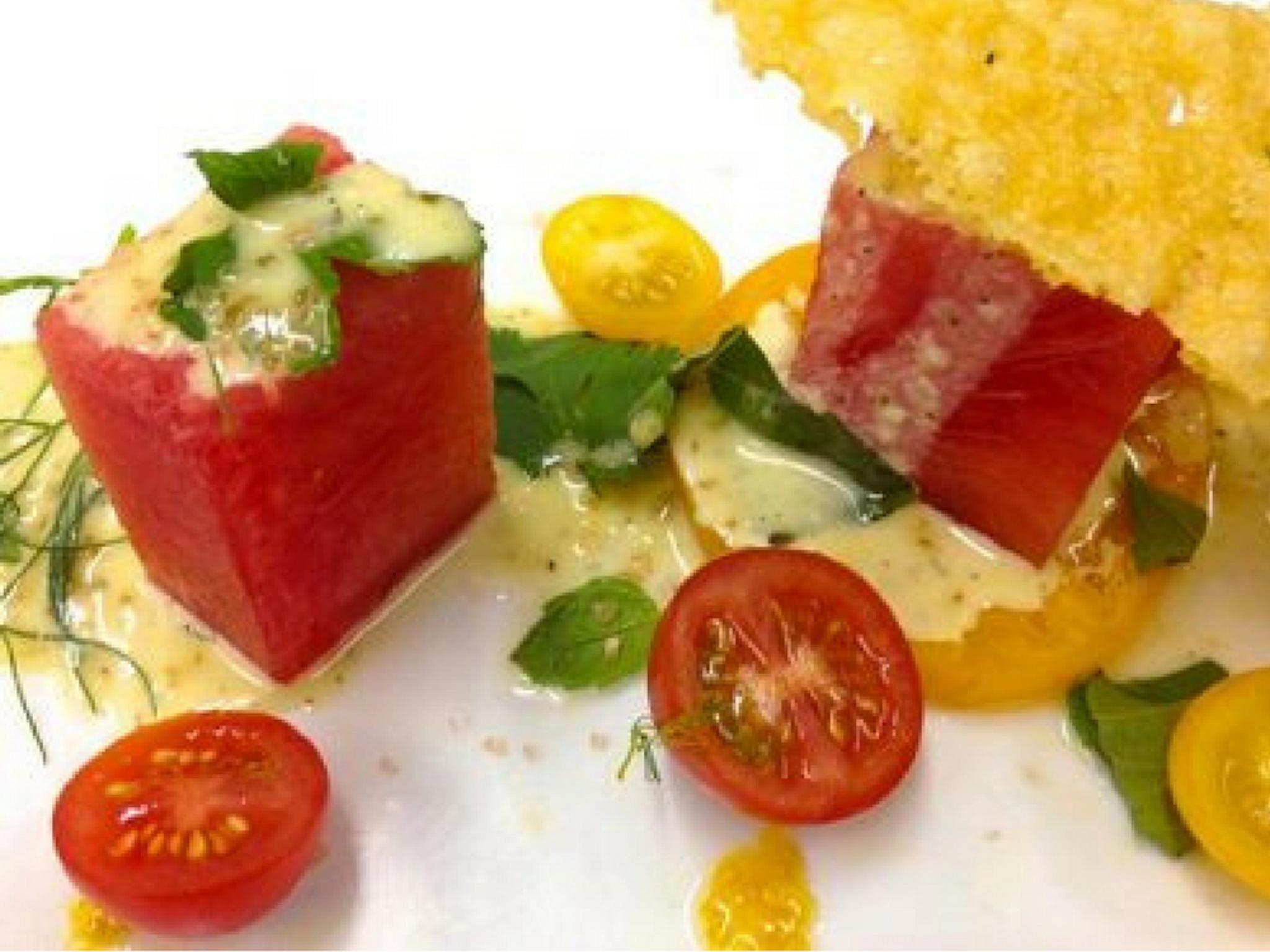 tomato and watermelon appetizer