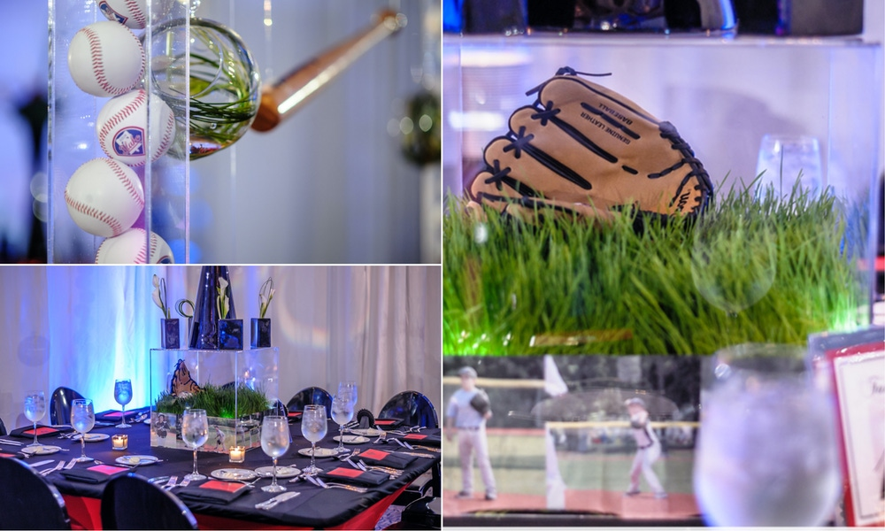 green, black and red baseball party