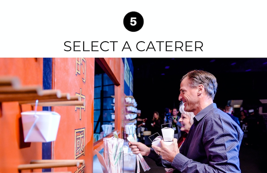 select a caterer