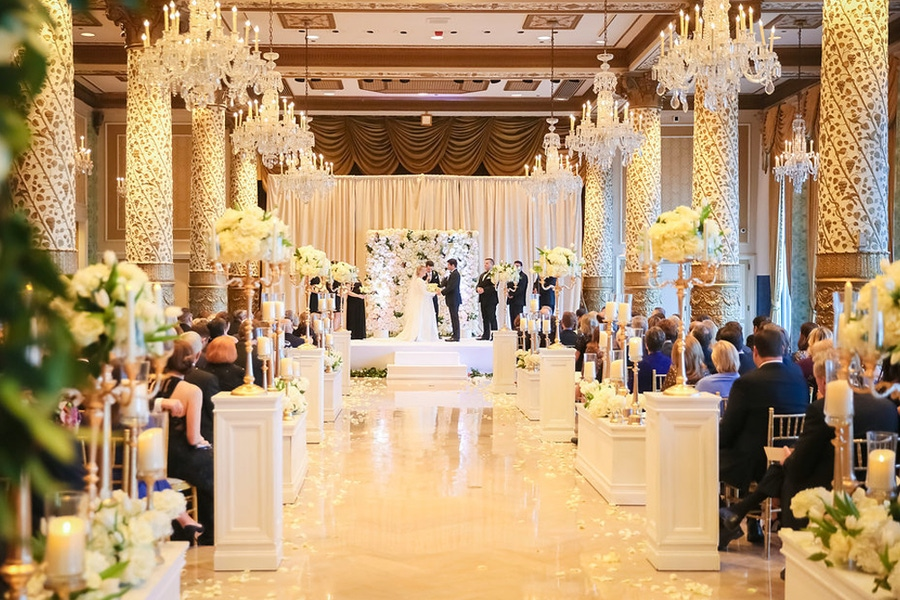 White and gold ballroom
