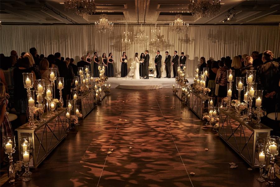 Candle lit walkway
