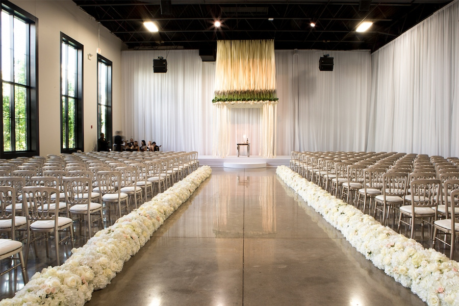 Pure white event space