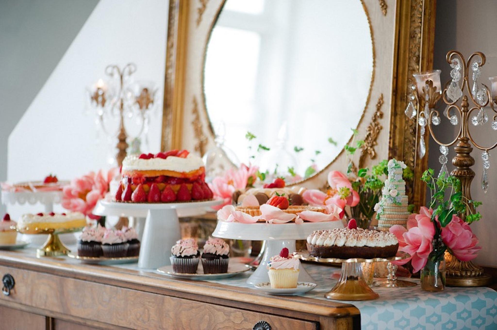 parisian bridal shower treats