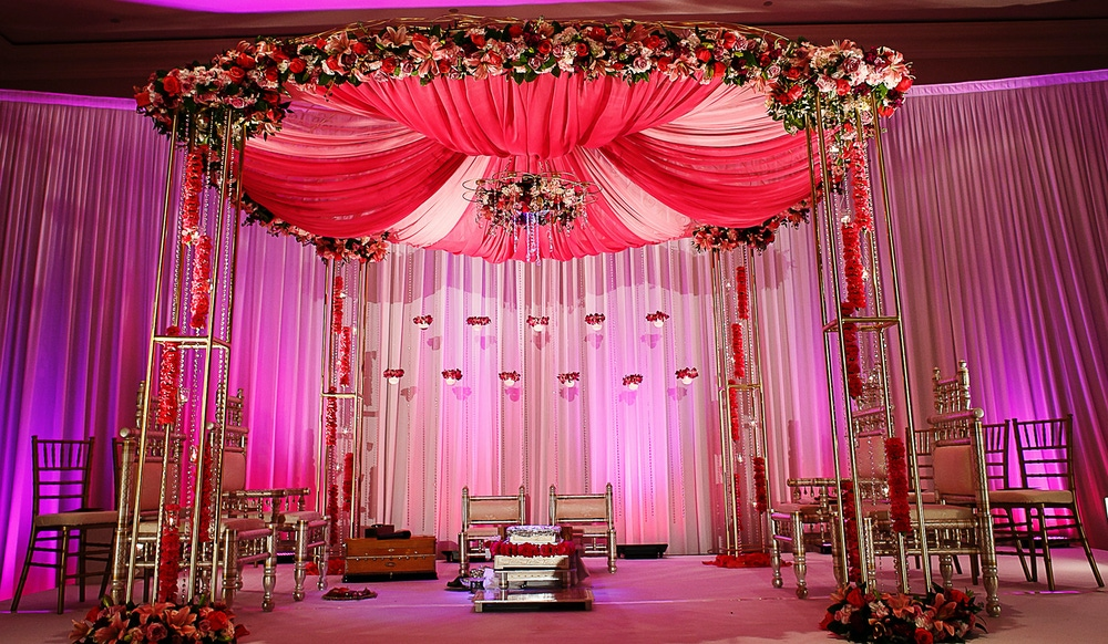 Indian wedding pink ceremony