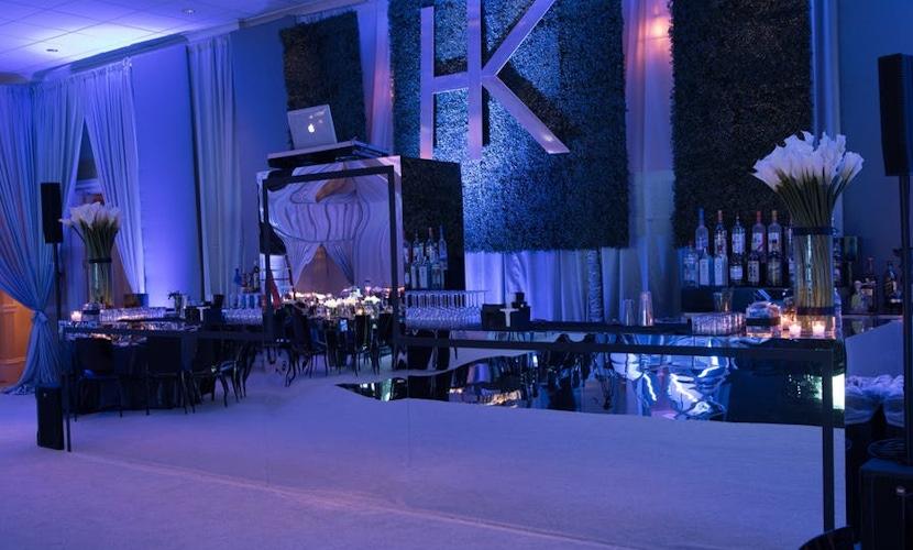 Blue lit room