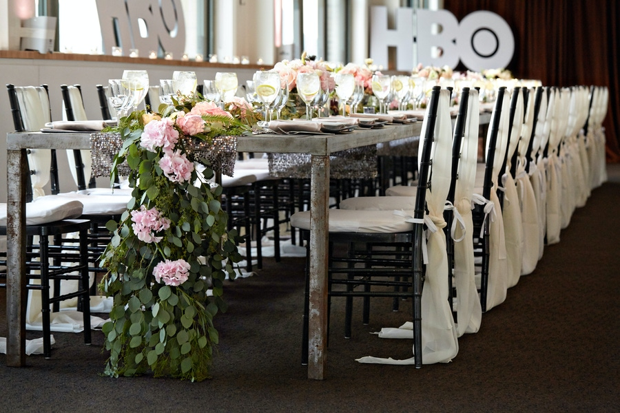 pink and green floral runner