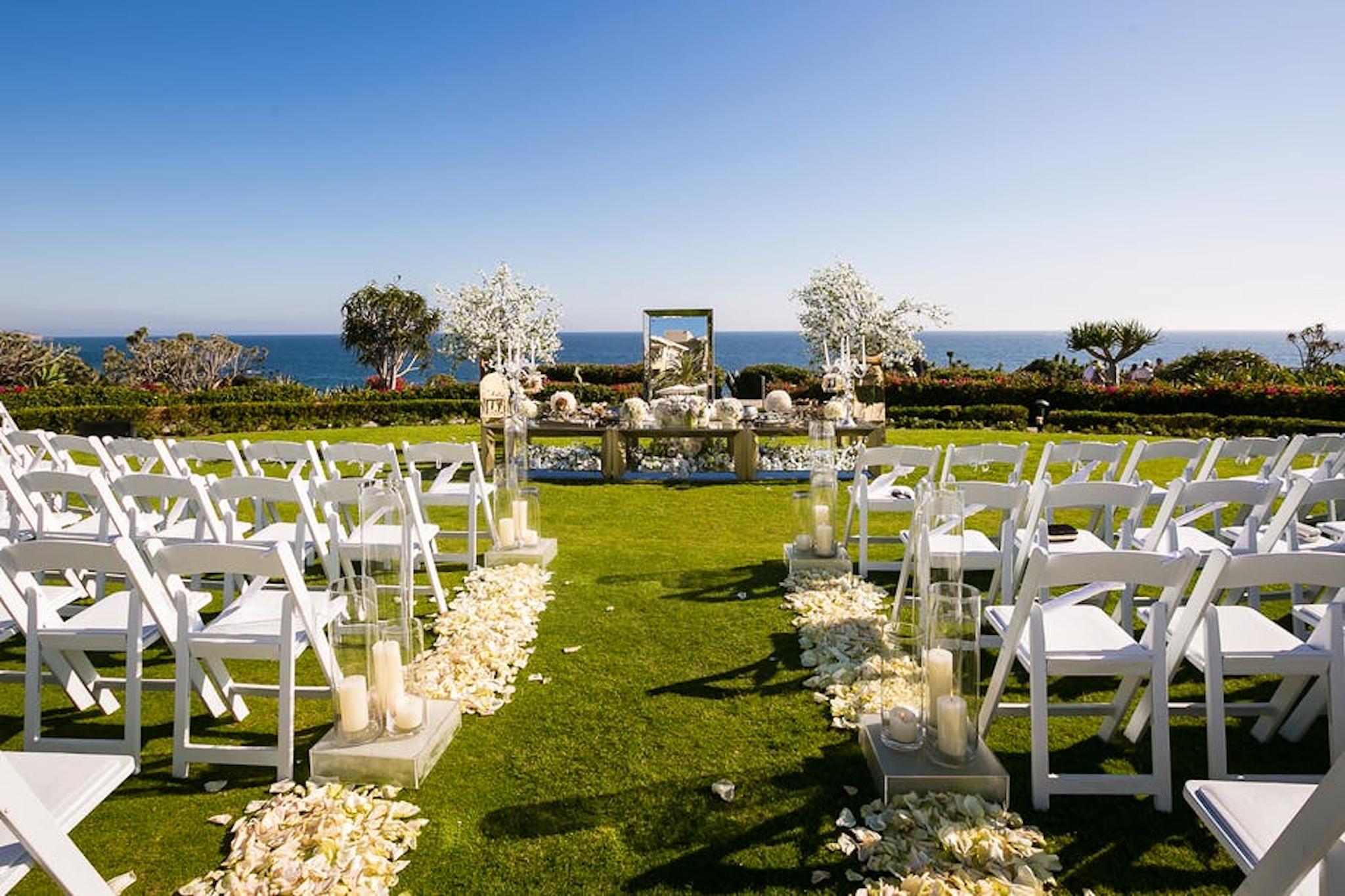 Outdoor wedding venue at Montage Laguna Beach