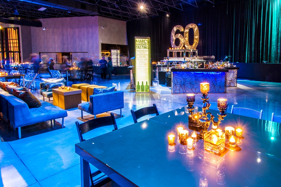 60th birthday party idea by Joyce Pollakoff Events and Kehoe Designs