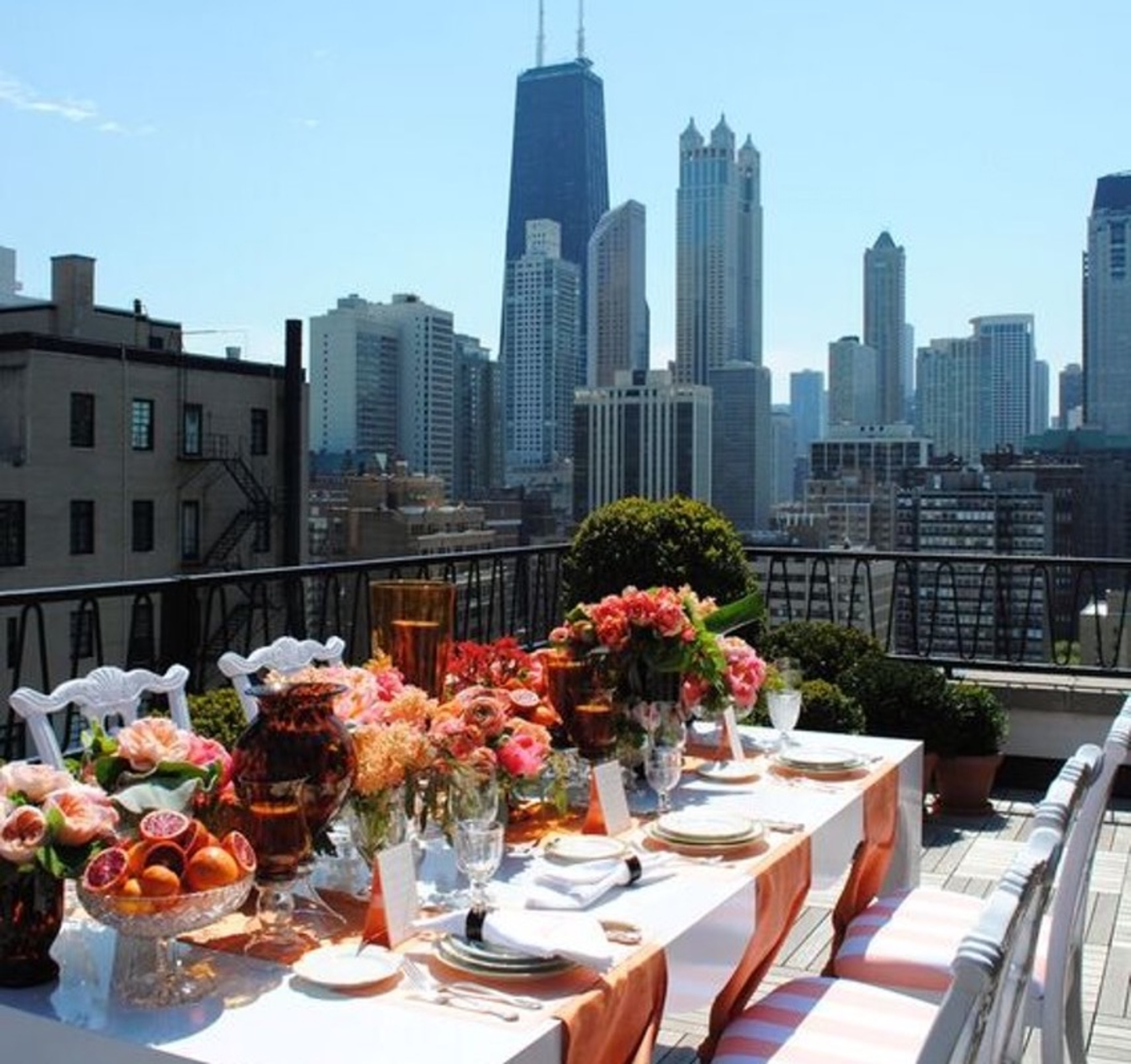 Rooftop bridal shower ideas
