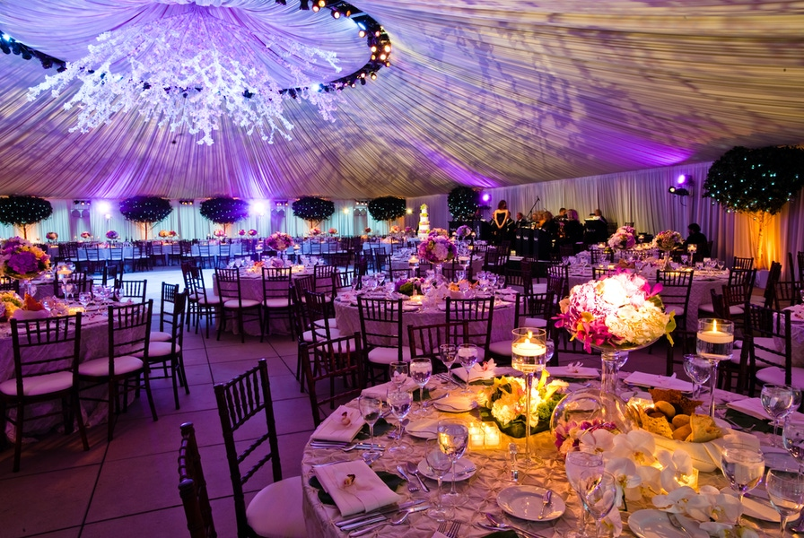 Venue with multi colored lighting