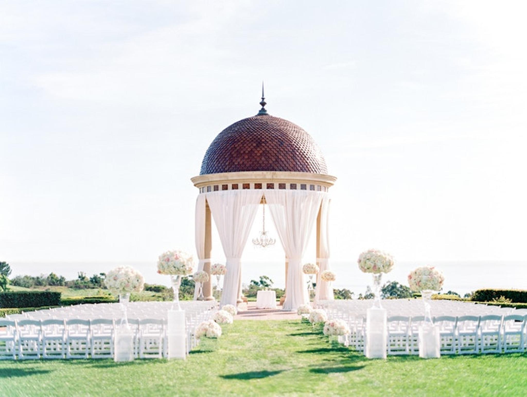 Outdoor wedding venue at The Resort At Pelican Hill