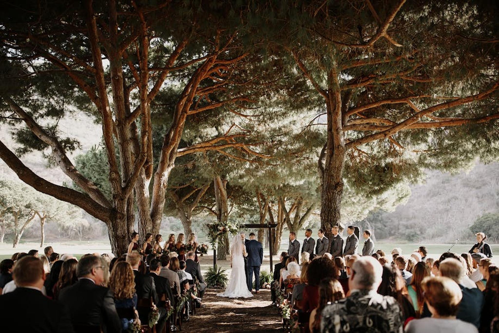 Outdoor wedding venue at The Ranch At Laguna Beach