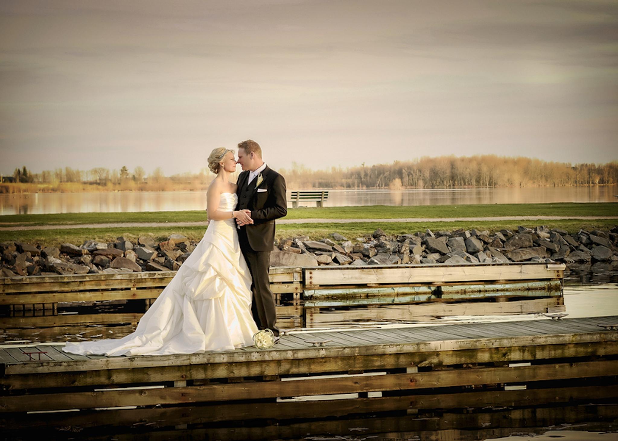 Canadian outdoor wedding